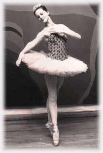 Theresa as Aurora, aged 15